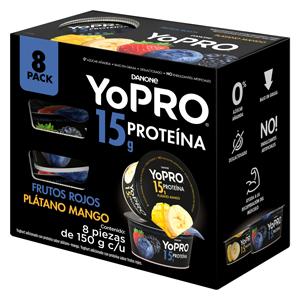 Paquete de Yoghurt con protena YoPRO